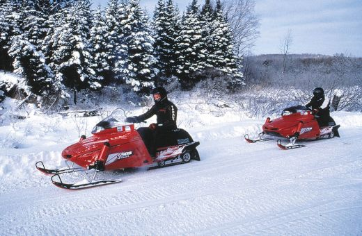 Snowmobiling from Base Camp